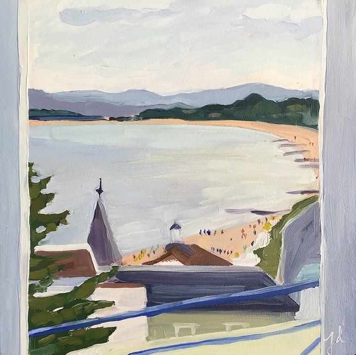 """""""Bournemouth from Balcony"""" original fine art by Jessie Dodington"""