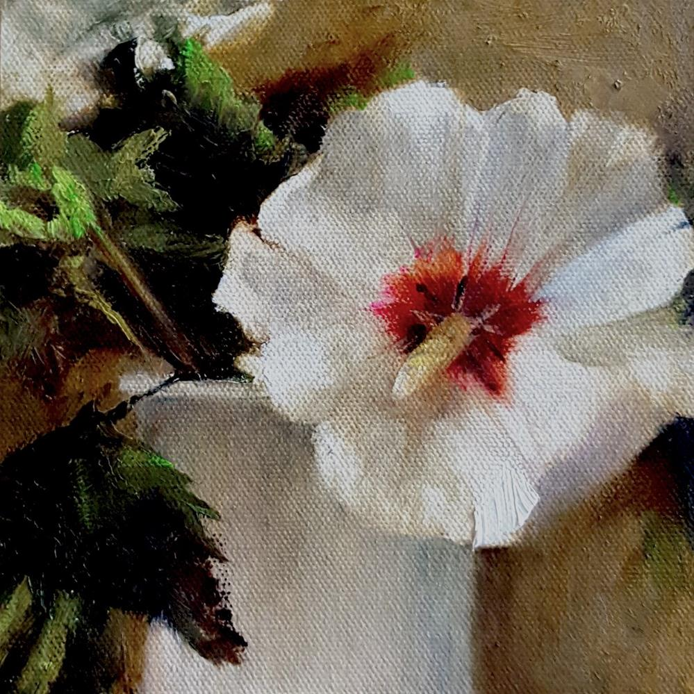 """Hardy Hibiscus"" original fine art by A.K. Simon"