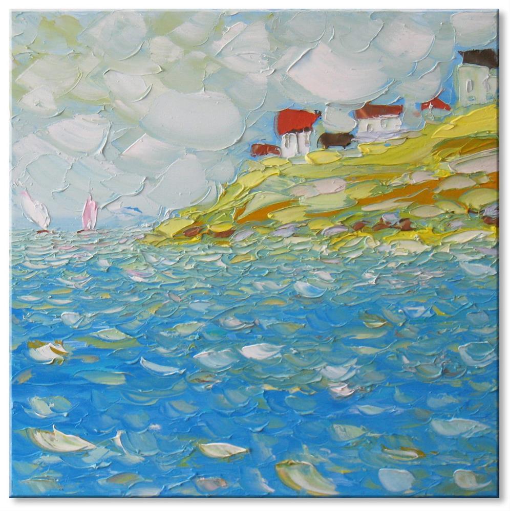 """Sunny coast"" original fine art by Elena Lunetskaya"