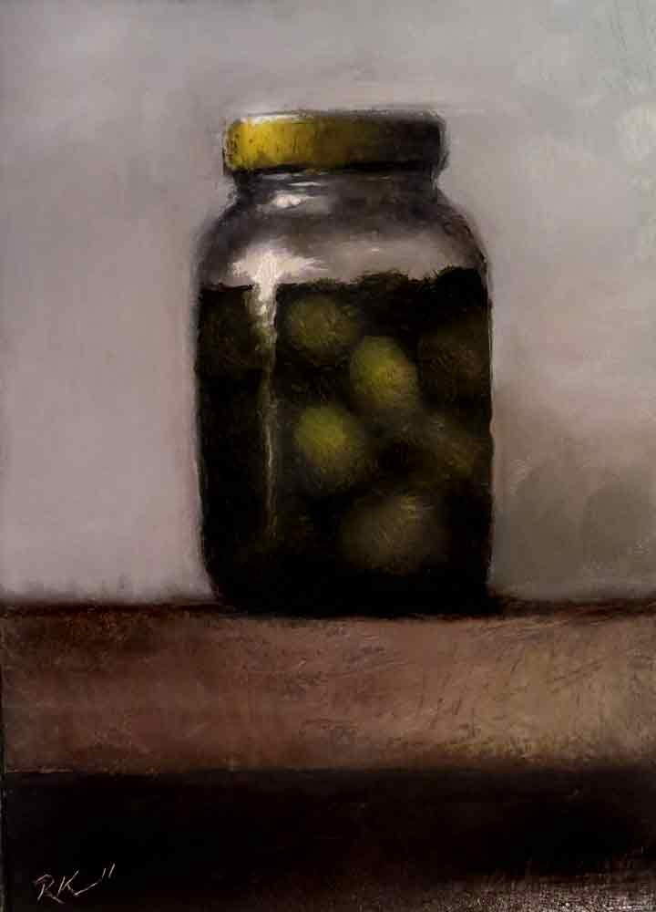 """A Jar of Olives"" original fine art by Bob Kimball"