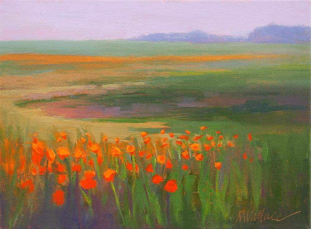 """""""#57 Poppies by the edge"""" original fine art by Nancy Wallace"""