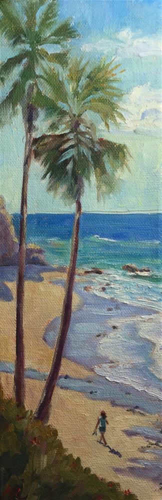 """""""Sunny Shores"""" original fine art by Natasha Ramras"""