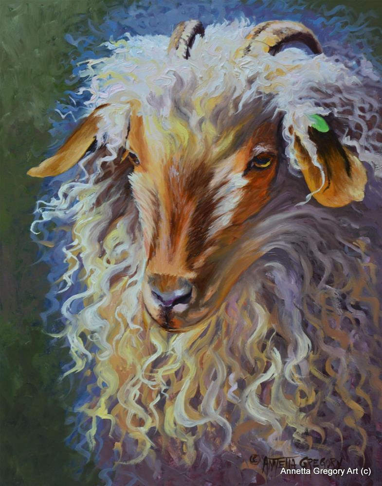 """Curly"" original fine art by Annetta Gregory"