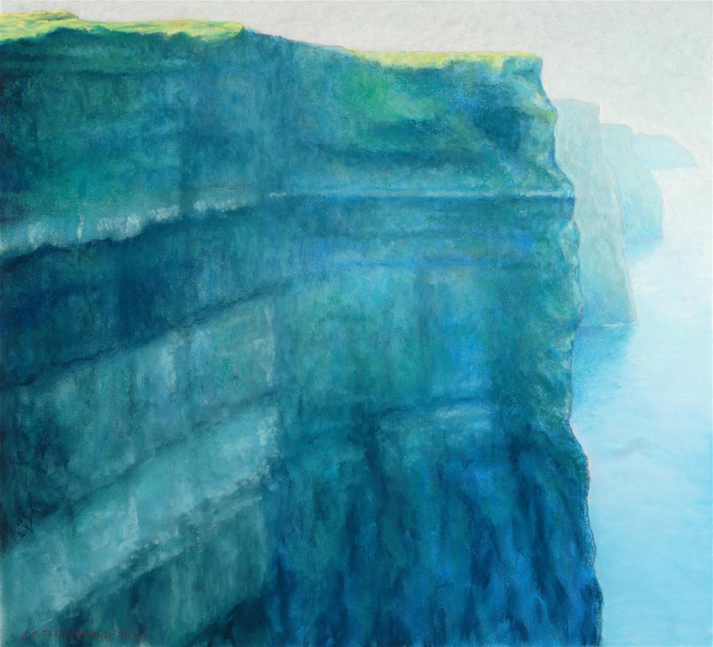 """Moher - Misty Face"" original fine art by Joe Fitzgerald"