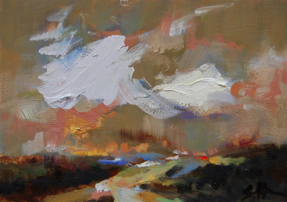 """Storm Rush"" original fine art by Susan Hughes"