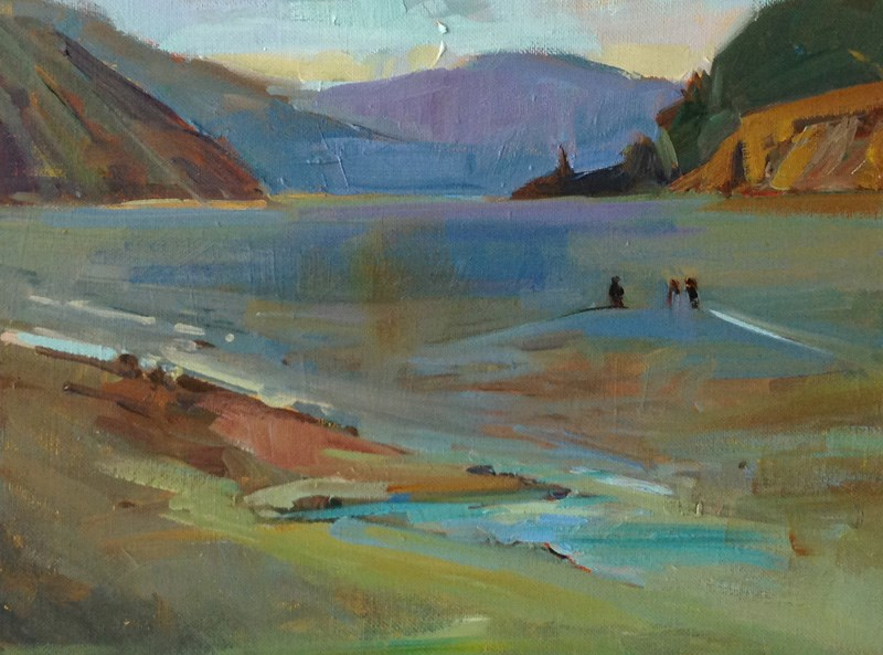 """Columbia River Waders"" original fine art by Patti McNutt"