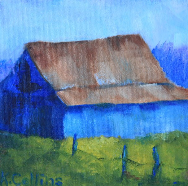 """Shades of Blue"" original fine art by Kathy Collins"