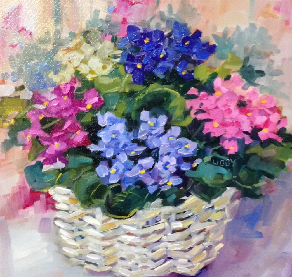"""VIOLET BASKET"" original fine art by Libby Anderson"