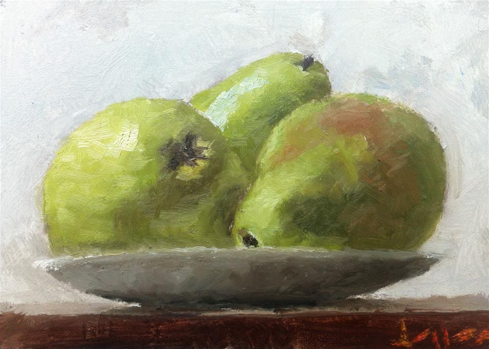 """Anjou Pears"" original fine art by Richard Jones"