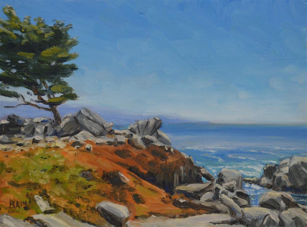 """Monterey Coast"" original fine art by Peter Bain"
