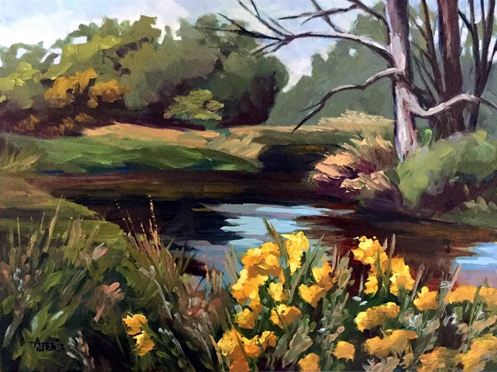 """Sycamore Creek"" original fine art by Andrea Jeris"