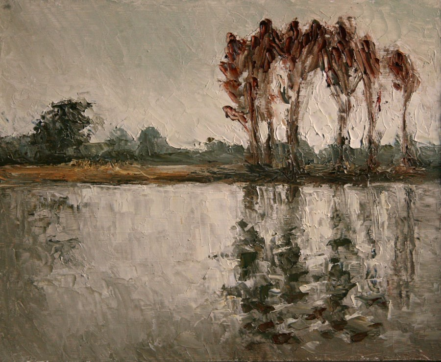 """River Reflection"" original fine art by Jethro Knight"