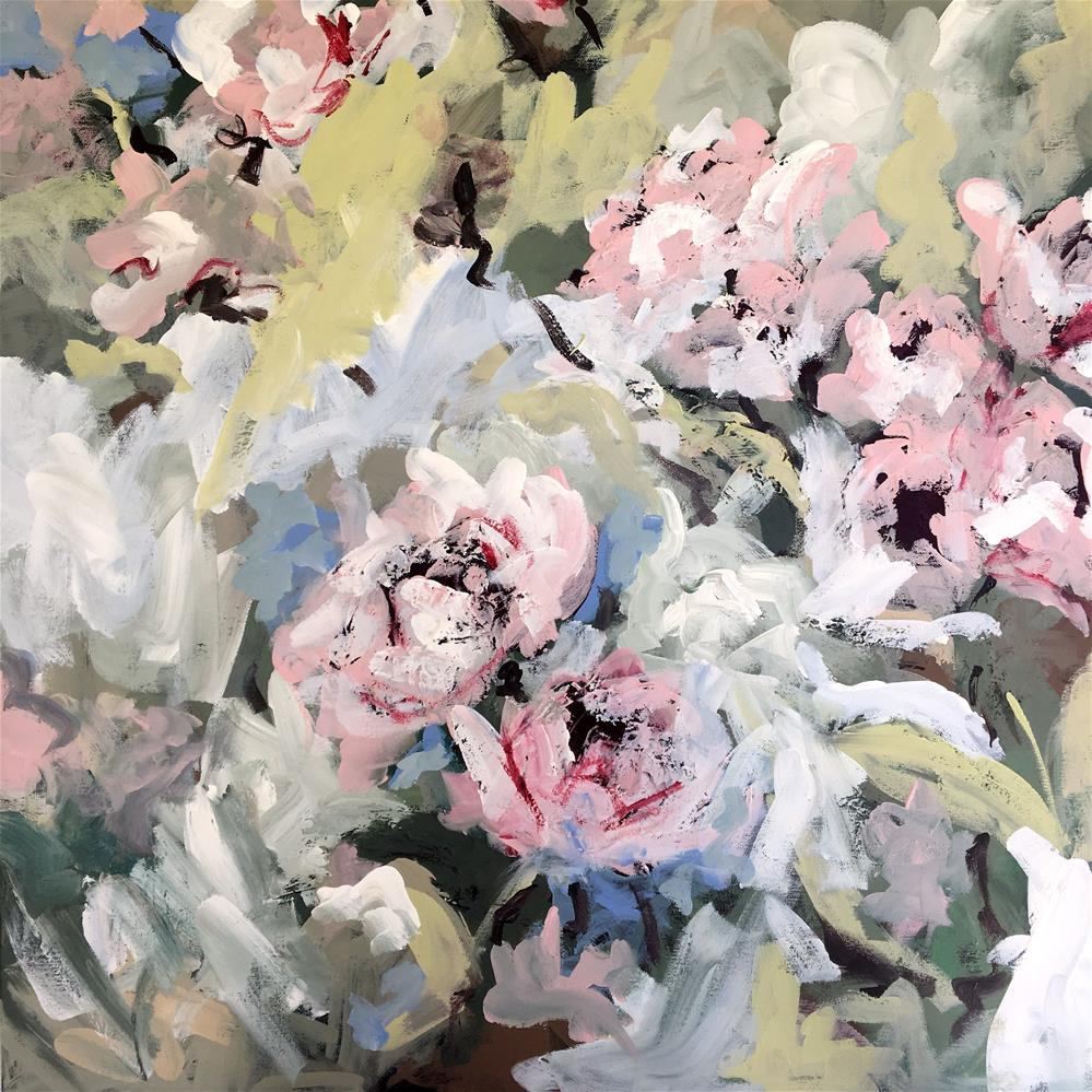 """My Momma's Peonies"" original fine art by Susan Elizabeth Jones"