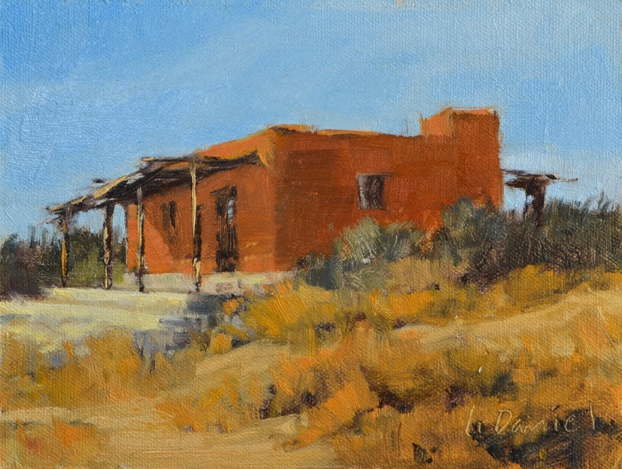 """Adobe Dwelling - Big Bend, Texas"" original fine art by Laurel Daniel"