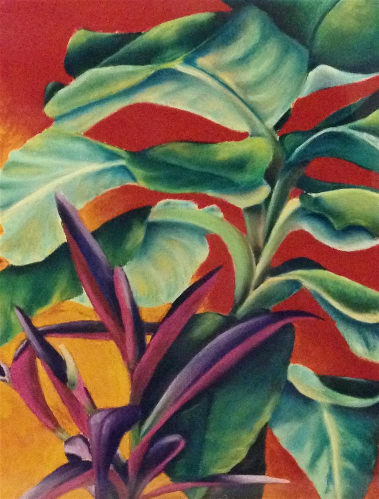 """Houseplants"" original fine art by Karen Collins"