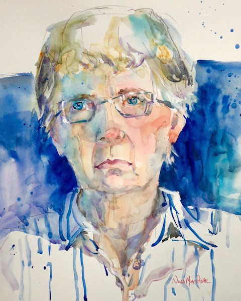 """Portrait of an Artist"" original fine art by Nora MacPhail"