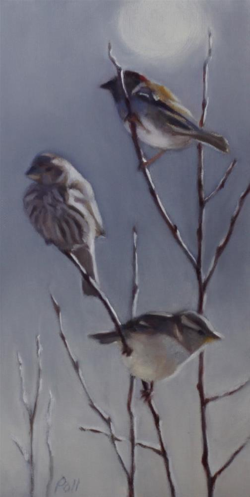 """Birds in Morning Light"" original fine art by Pamela Poll"