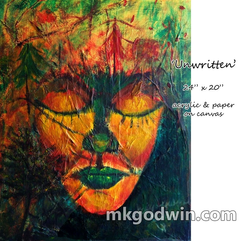 """Unwritten"" original fine art by Marie K Godwin"