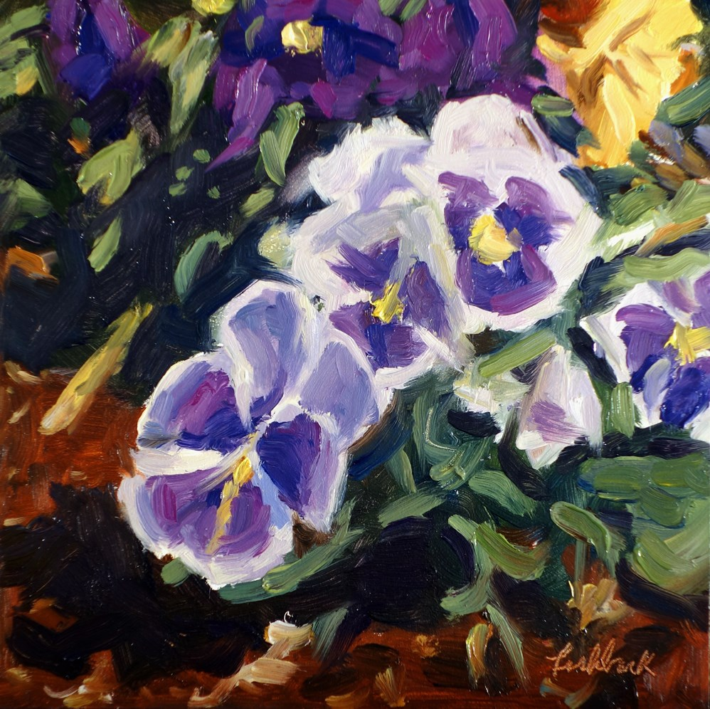 """Pansies"" original fine art by Daniel Fishback"