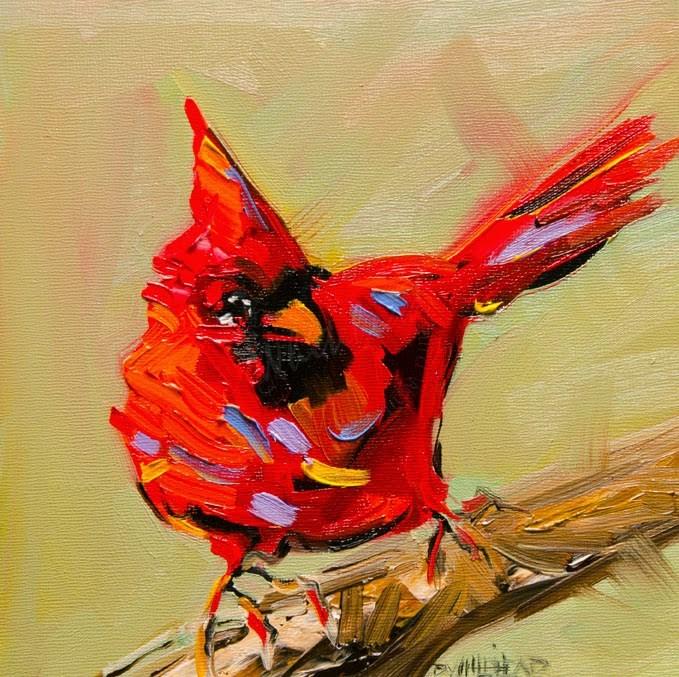 """""""ARTOUTWEST FINCH BIRD SERIES ART BY Diane Whitehead Fine Art"""" original fine art by Diane Whitehead"""