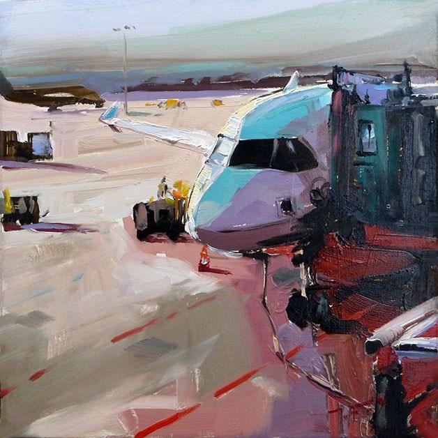 """Am Flugfeld"" original fine art by Jurij Frey"