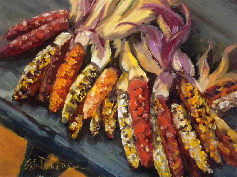 """Colorful Corn"" original fine art by Erin Dertner"