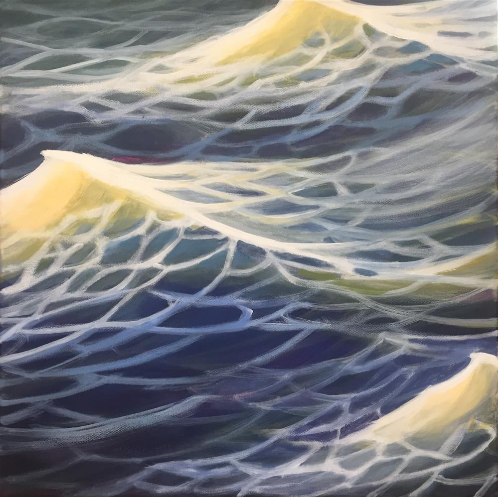 """At Sea, Framed"" original fine art by Tricia Granzier"