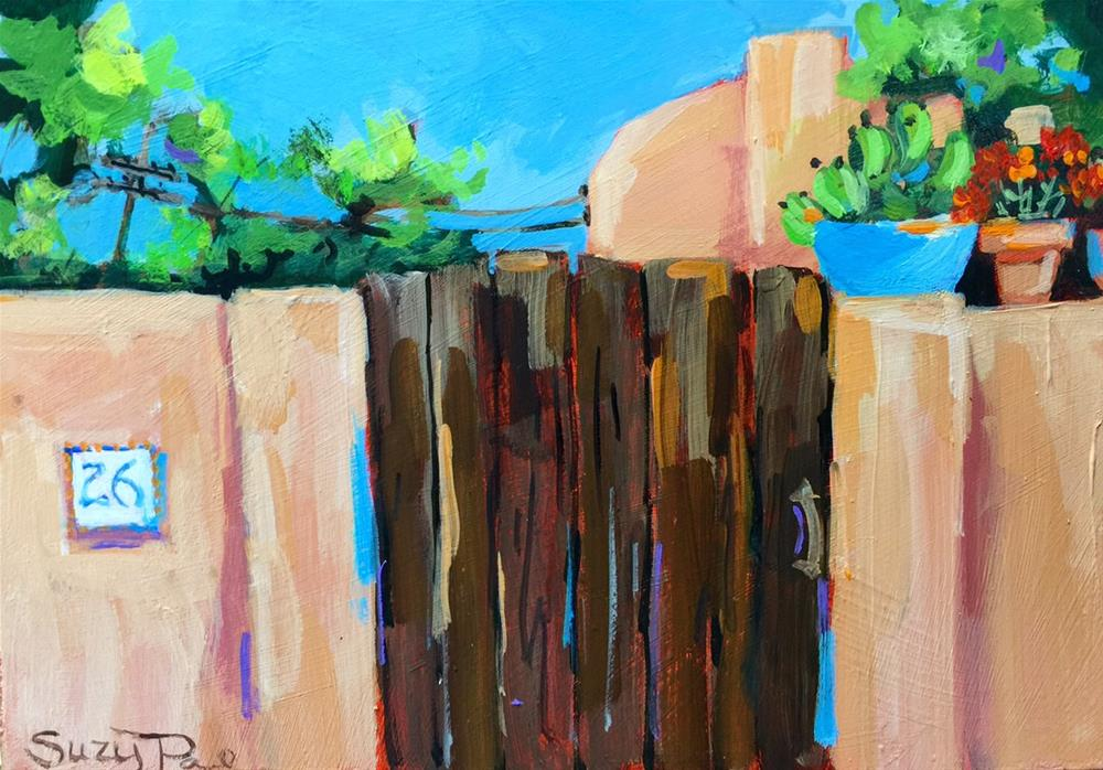 """Santa Fe #26"" original fine art by Suzy 'Pal' Powell"