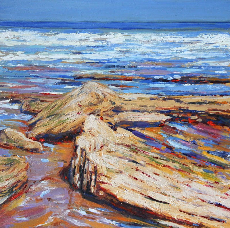 """Rock Pools"" original fine art by Ken Devine"