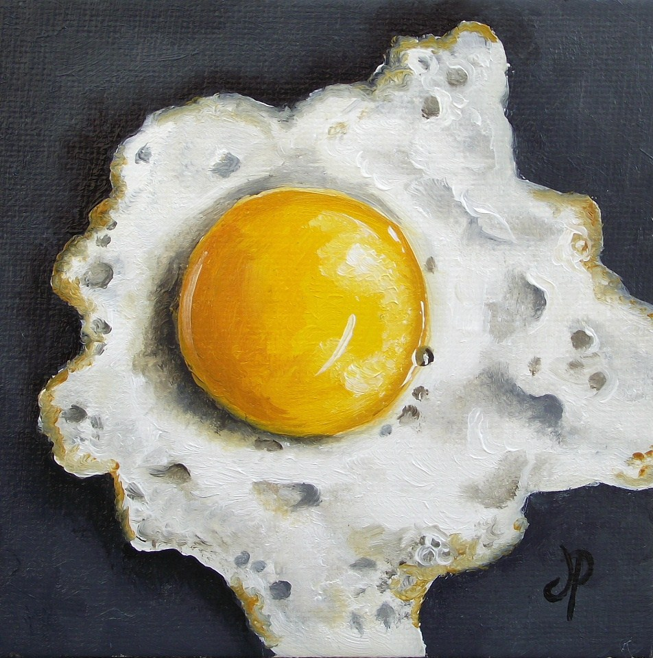 """Little fried egg"" original fine art by Jane Palmer"