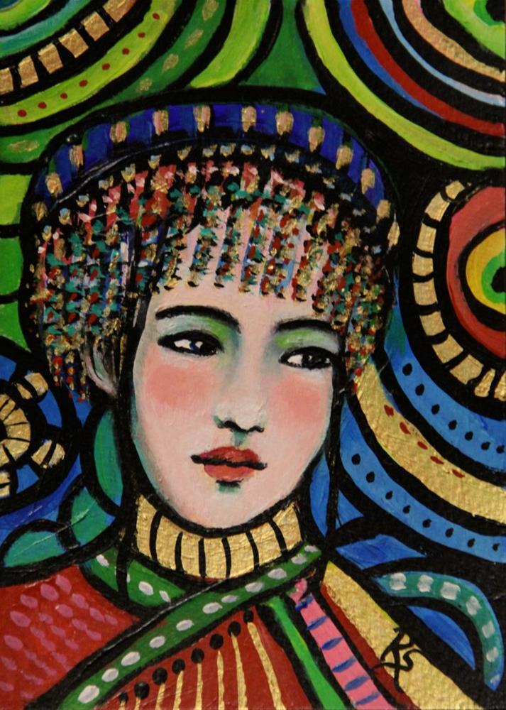 """""""Hmong Beauty"""" original fine art by Roberta Schmidt"""