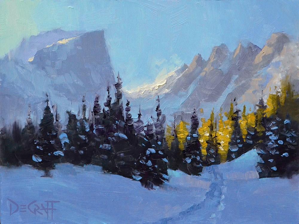 """""""Heading for the Light"""" original fine art by Larry DeGraff"""