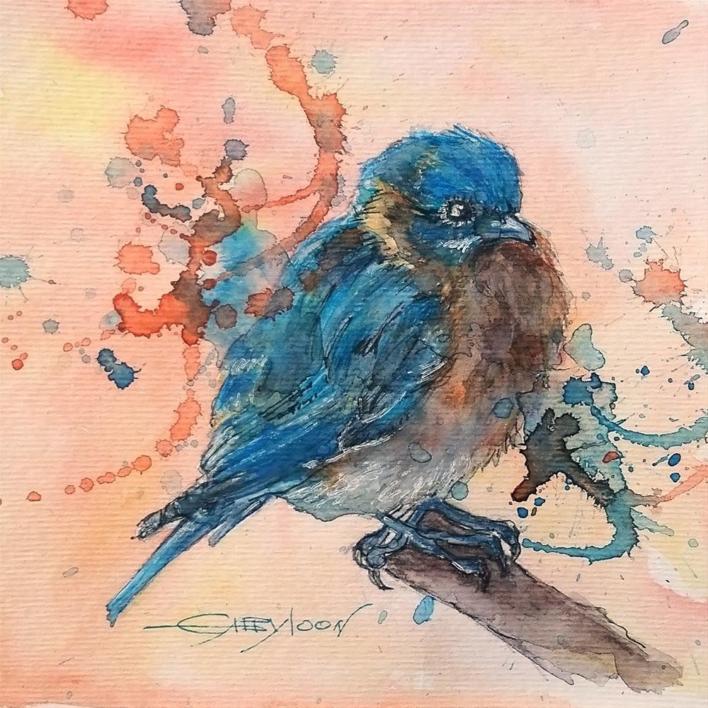 """Bluebird"" original fine art by Gabriella DeLamater"