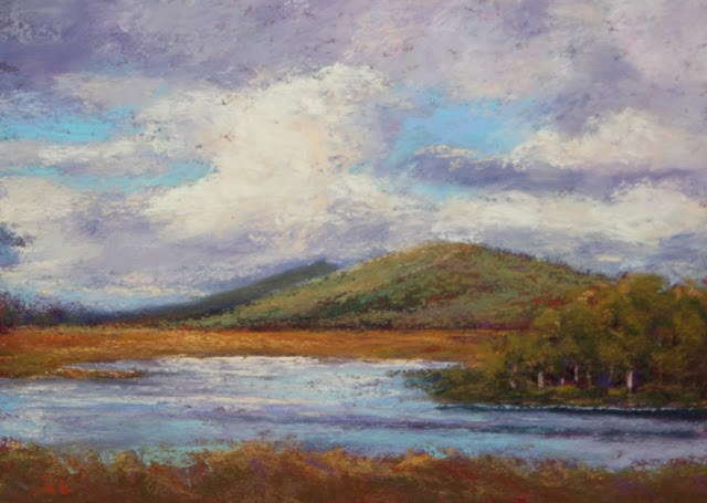 """Cloudy, Blustery Day"" original fine art by Sharon Lewis"