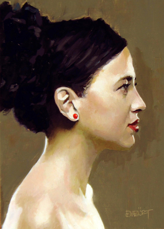 """DAILY DIAPER #200 The Red Earring"" original fine art by Brian Burt"