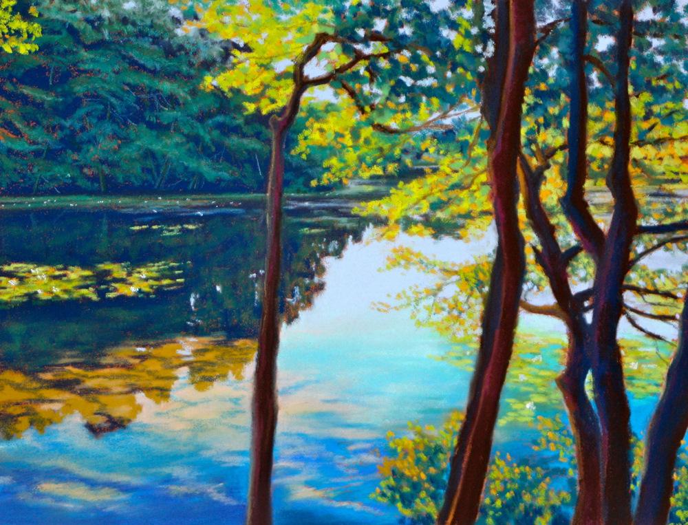 """Eagle Pond"" original fine art by Jill Bates"