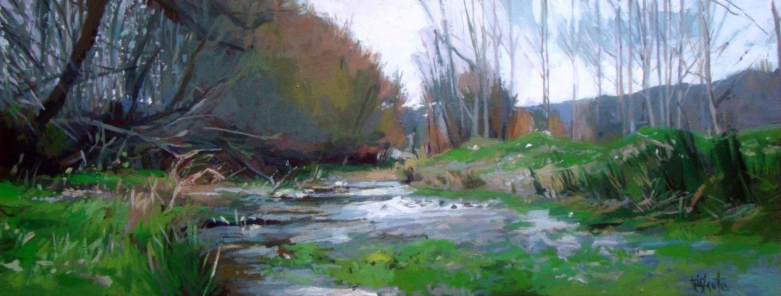 """Border´s river"" original fine art by Víctor Tristante"