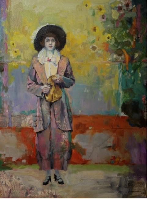 """Golden Portrait"" original fine art by Katie Wilson"