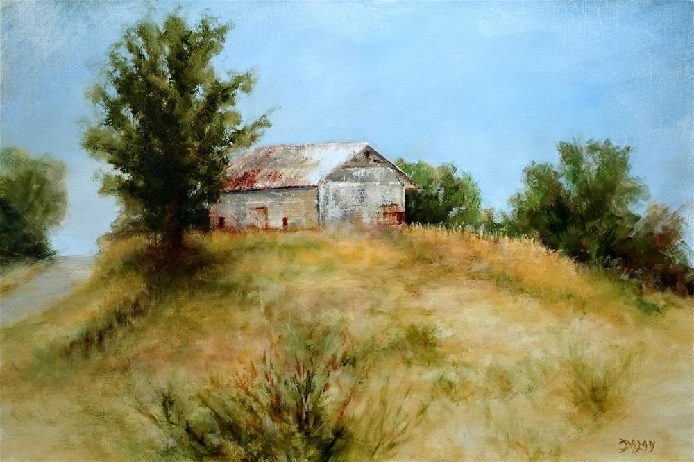 """The White Barn"" original fine art by Dalan Wells"