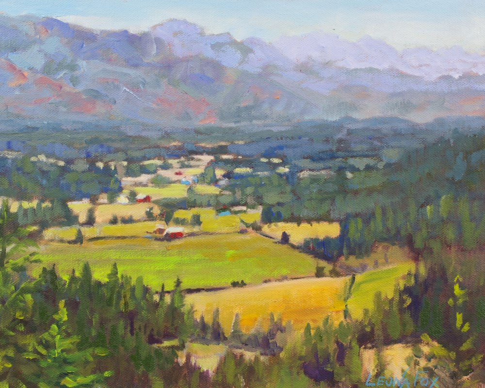 """Valley Vista"" original fine art by Leona Fox"