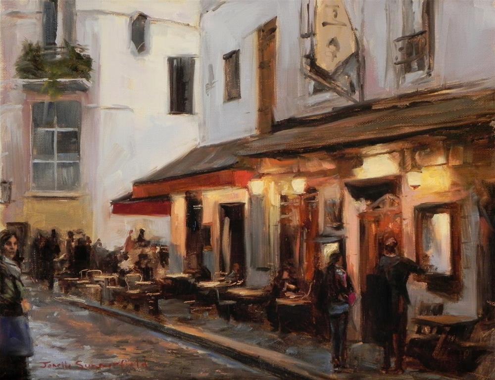 """""""Dusk in Montmartre"""" original fine art by Jonelle Summerfield"""