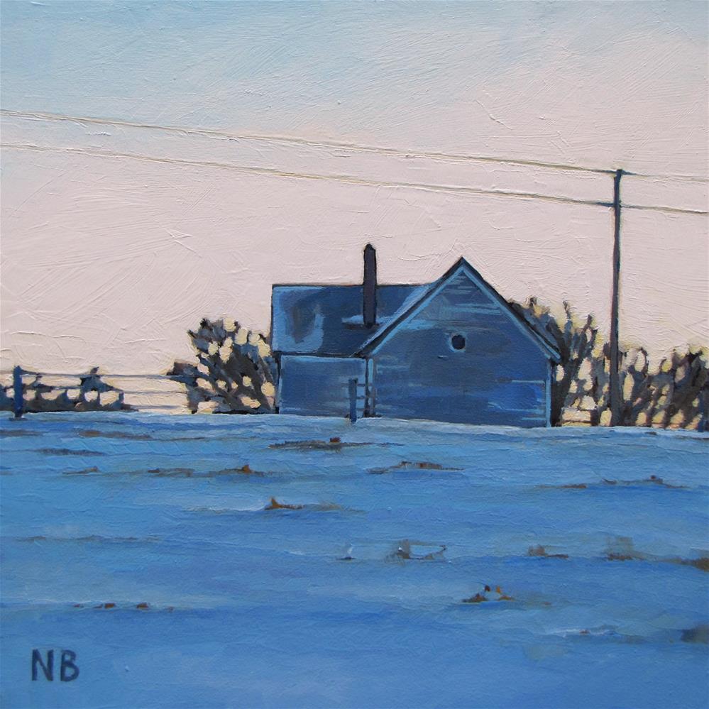 """Evening Blues"" original fine art by Nora Bergman"