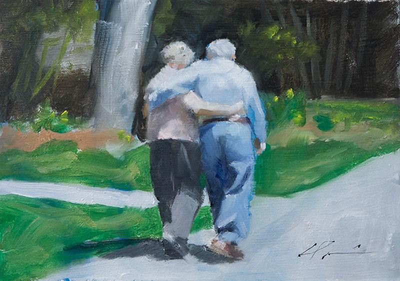 """In Remembrance..."" original fine art by Clair Hartmann"