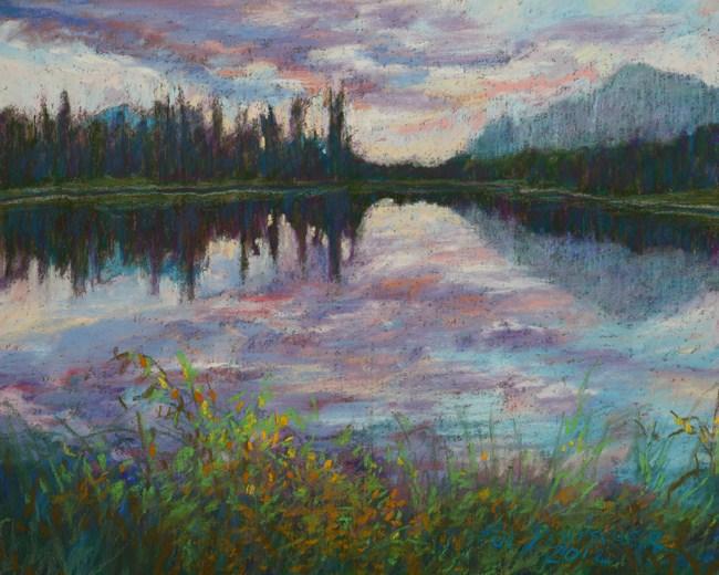 """""""Lake Bierstadt, Rocky Mountain National Park, Colorado"""" original fine art by Sue Deutscher"""