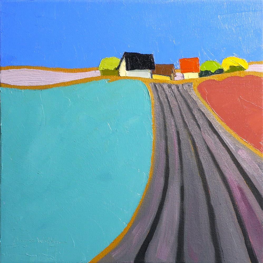 """Lush Land"" original fine art by Donna Walker"
