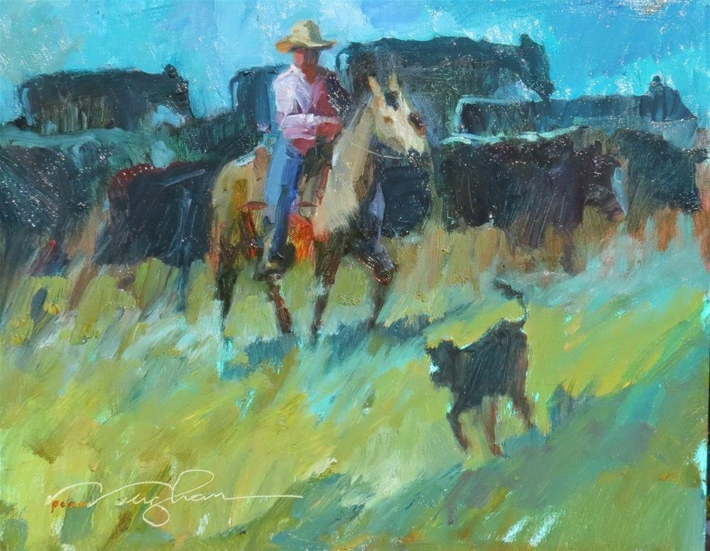 """Cowgirl Up! QUICK DRAW"" original fine art by V.... Vaughan"