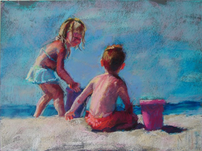 """Bucket-Fulls"" original fine art by Robin Cheers"