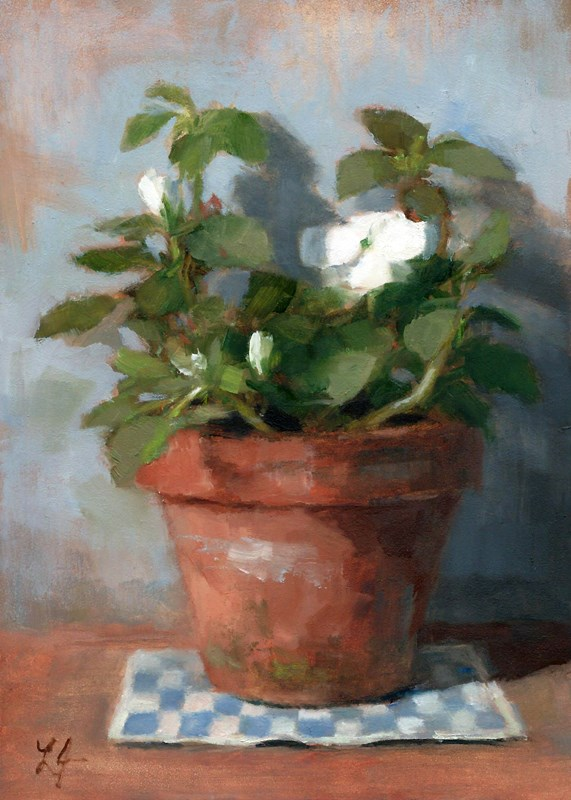 """Impatiens"" original fine art by Linda Jacobus"