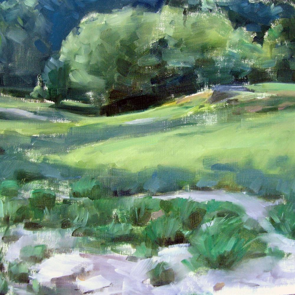 """Broadmoor Field 2, Natick MA (no.68)"" original fine art by Michael William"