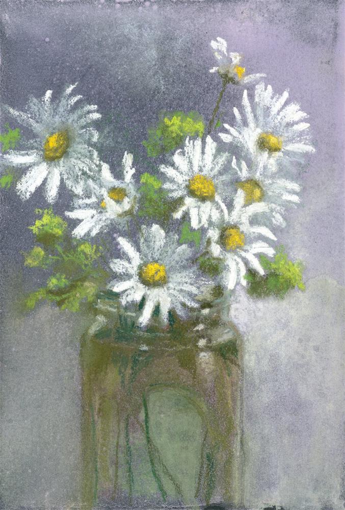 """""""Jar of Daisies"""" original fine art by Christine Derrick"""